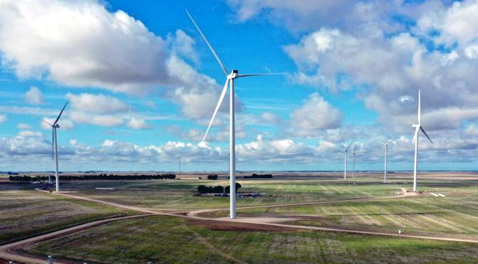La energía eólica sopla con fuerza en Bahía Blanca y sus alrededores