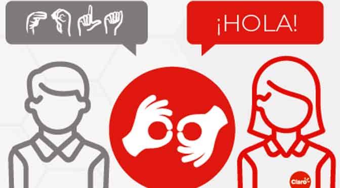 Claro suma lengua de señas para atender a sus clientes