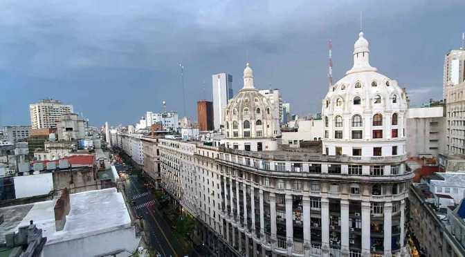 Buenos Aires desde la cúpula del edificio Miguel Bencich