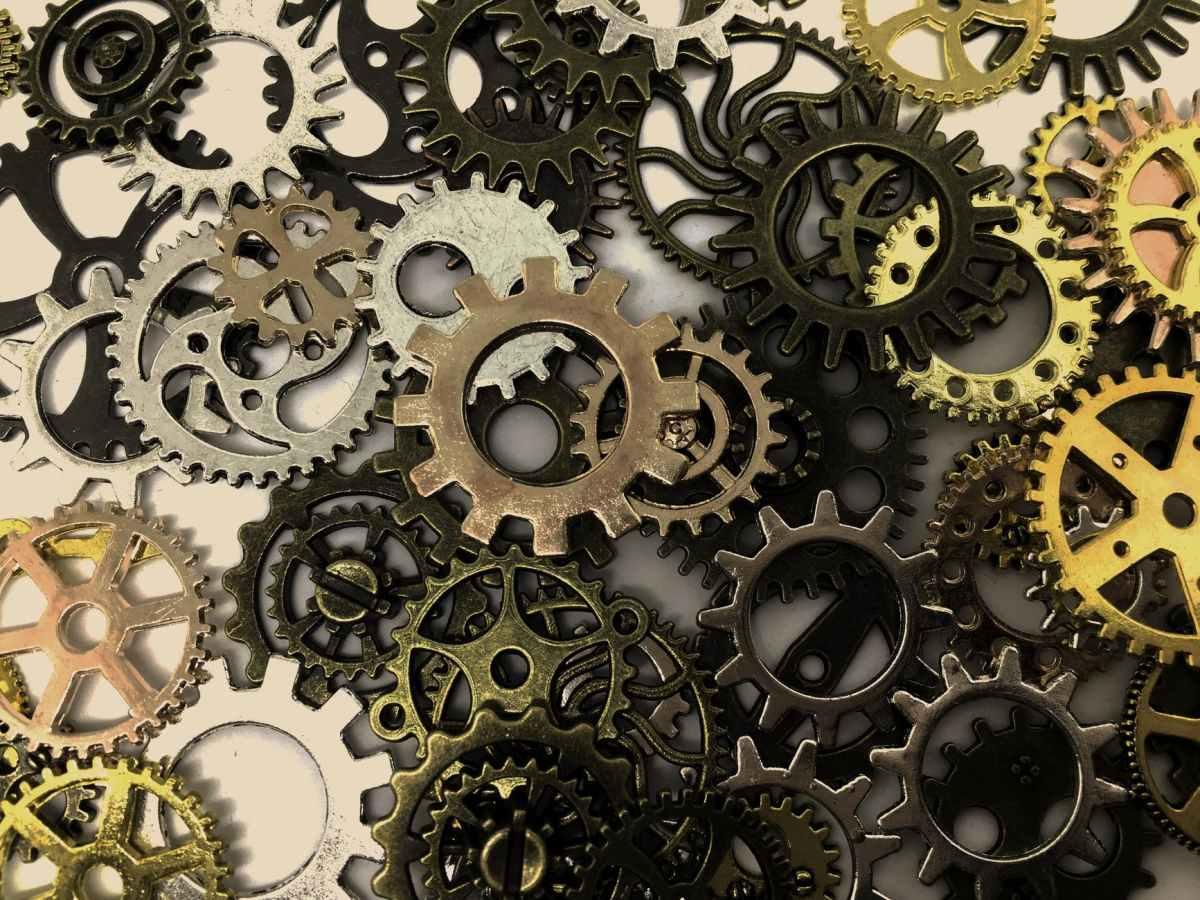 abstract art circle clockwork