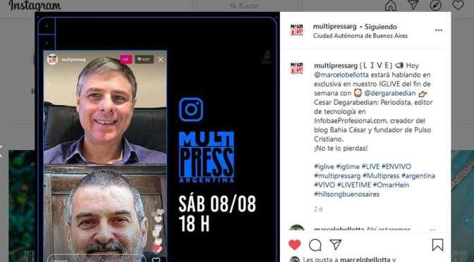 Charla sobre periodismo con Multipress y Marcelo Bellotta