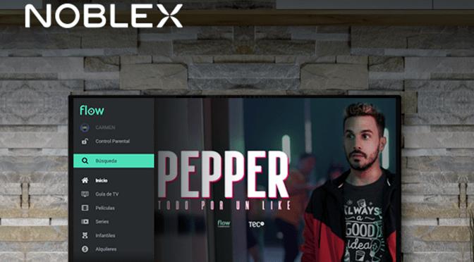 Flow se integra en los controles de los televisores de Noblex