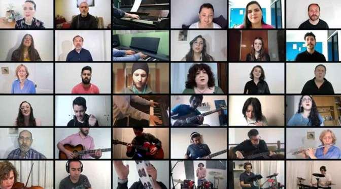 Qué grande eres Dios: un «puzzle» audiovisual de 36 músicos y cantantes