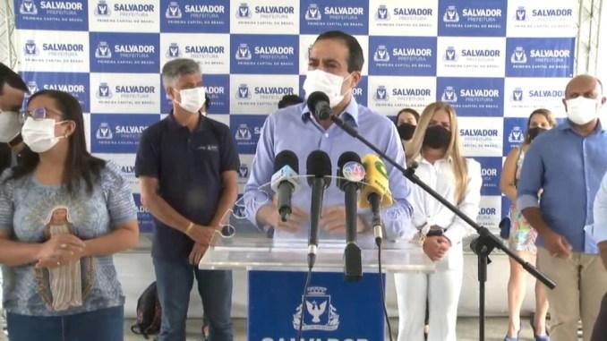 O prefeito Bruno Reis anunciou as novas medidas durante uma coletiva de imprensa.