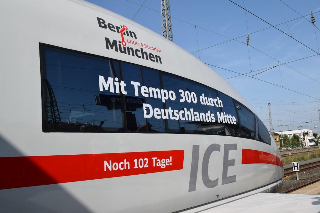 ICE Premierenfahrt VDE 8.1 Erfurt Bamberg Ebensfeld 30. August 2017 ICE 3 403