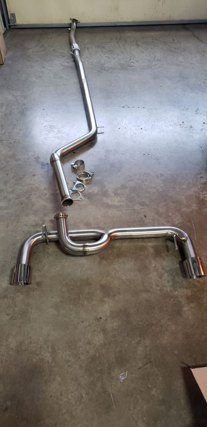 bbm abarth 2 5 turbo back stainless exhaust