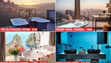 Photo of بالصور| حمامات الفنادق الأكثر شعبية على إنستغرام