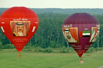 """King of Bahrain"" Balloon begins European tour"
