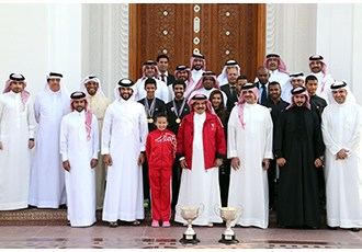 HM King receives Royal Endurance team, youngest swimmer