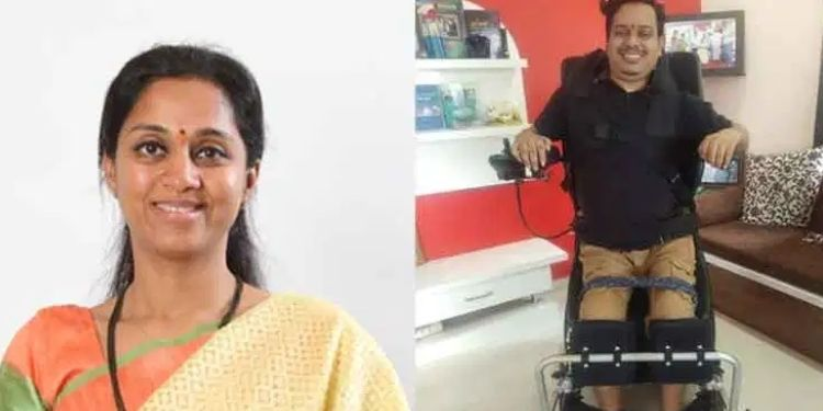 mp-supriya-sule-fulfills-the-dream-of-that-activist-to-walk-after-12-years