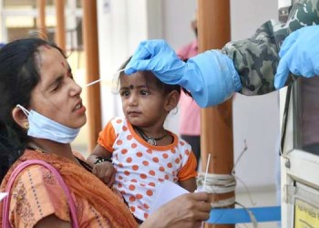 india reports 145384 new covid19 cases 77567 discharge and 794 deaths in the last 24 hours as per the union health ministry