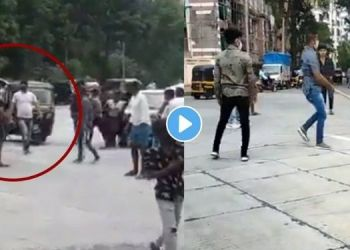 Mumbai News   video sword attack on lawyer in mumbai in broad daylight shocking incident captured on camera.