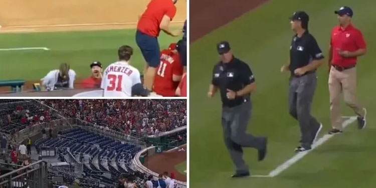live match gun shooting outside the stadium during washington nationals game fans told to leave 3 people were injured