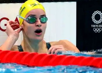 tokyo olympic 2020 swimmer kaylee mckeown uses abusive word in excitement after winning gold video viral