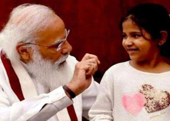 pm modi 10 years baby girl mailed from ahmednagar to prime minister narendra modi met in parliament