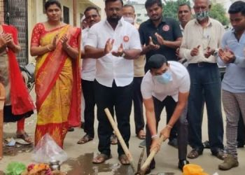 Pune News | Ward no. 26 Inauguration of development works in Kalepadal area from the development fund of corporator Bhangire.