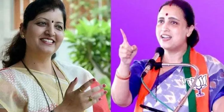 Chitra wagh bjp leader chitra wagh on state woman commission as well as on ncp leader rupali chakankar.
