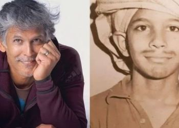 Milind Soman | milind soman childhood photo says he wanted to become a farmer now is a succesfull model actor.