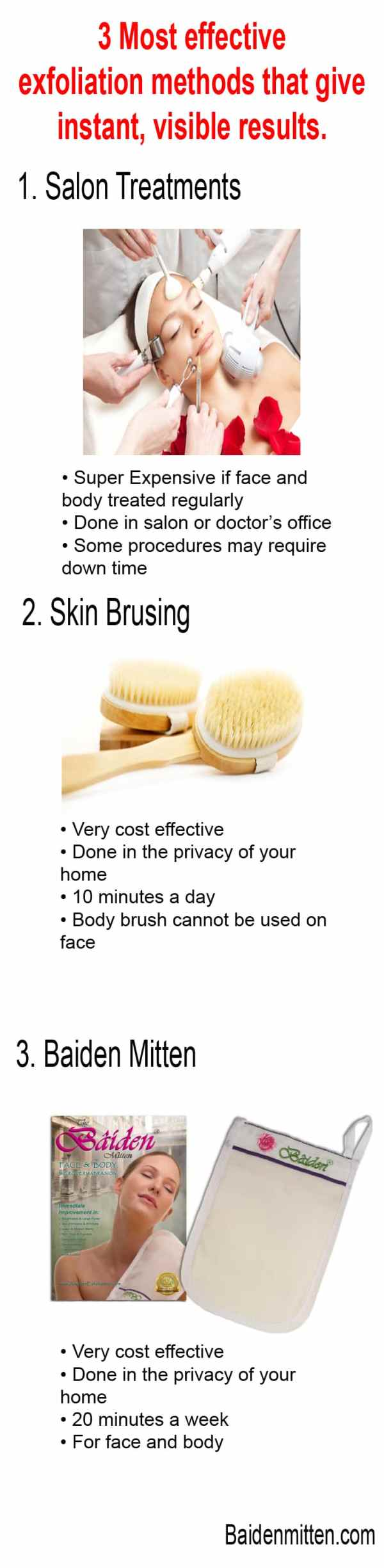 Best exfoliation methods