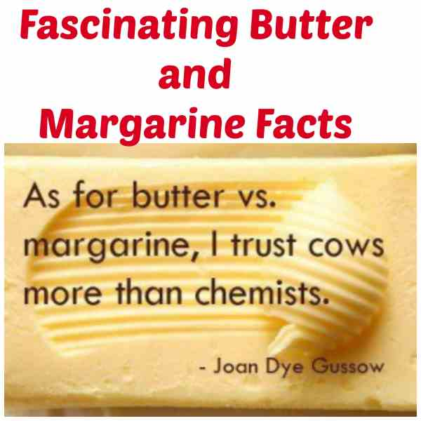 butter and margarine facts