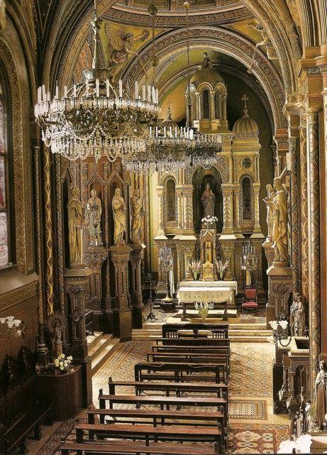 Eclecticismo Santa FElicitas vista de la nave desde el coro
