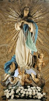 detalle de la inmaculada
