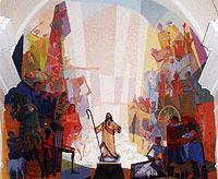 mural altar buenpastor