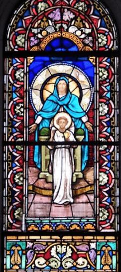 Asunción Santísima Virgen vitral 4