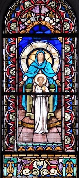 asuncion santisima virgen vitral 4