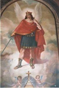 Imagen de San Miguel en la parroquia homonima