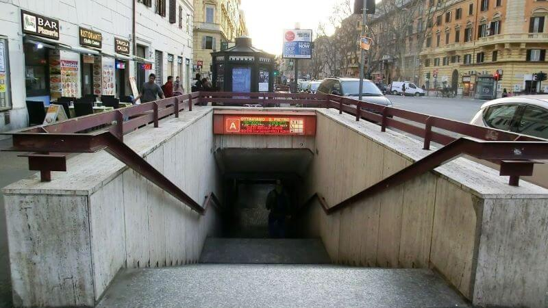 estacion ottaviano para llegar al vaticano
