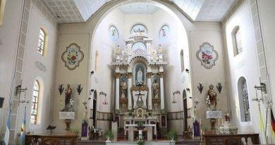 retablo de la parroquia natividad de maria en colonia santa maria coronel suarez