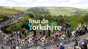 "POP-UP GUIDED WALK TO THE TOUR DE YORKSHIRE FINALE AT THE COW AND CALF ROCKS."" A Baildon Walkers are Welcome guided walk @ Meet at Baildon Potted Meat Stick by Ian Clough car park in centre of Baildon,"