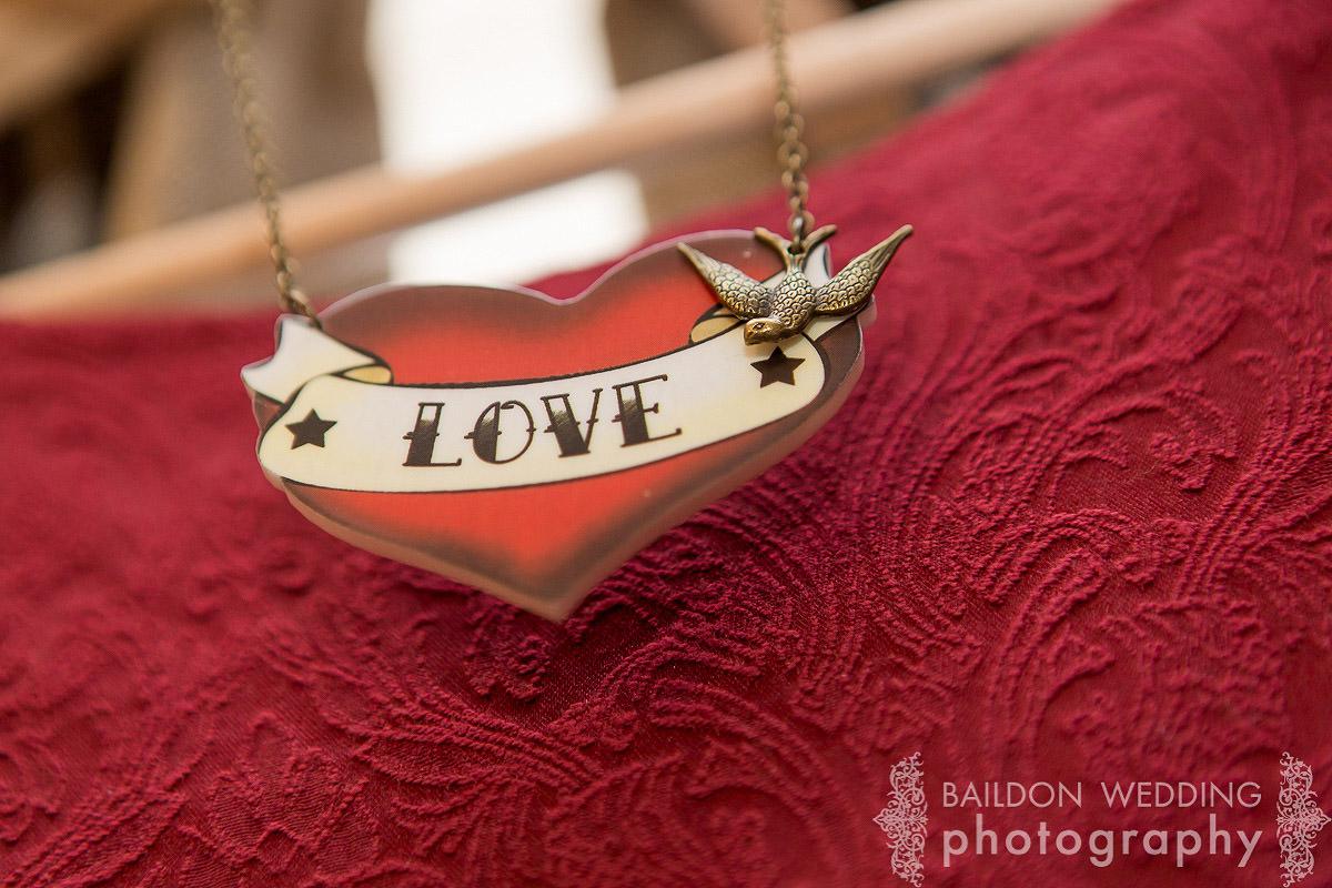 love chain bridesmaid necklace