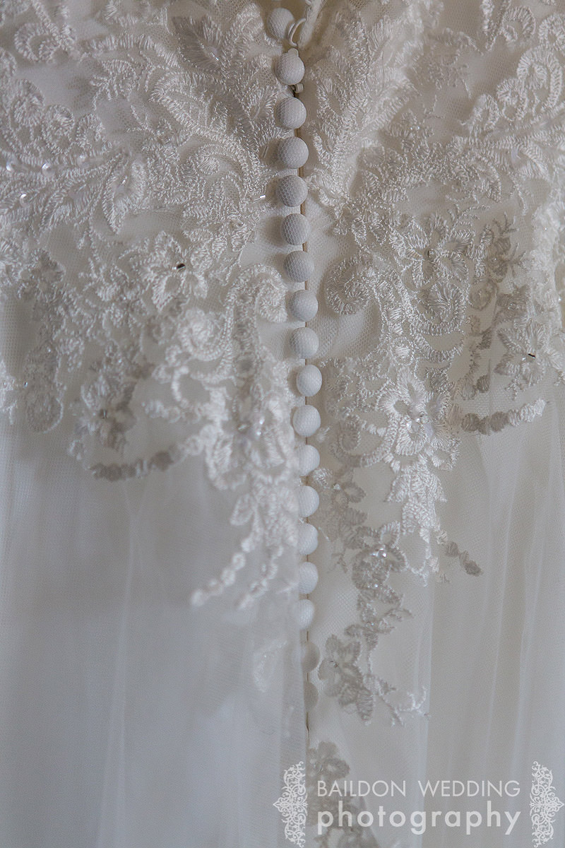 wedding dress detail close up