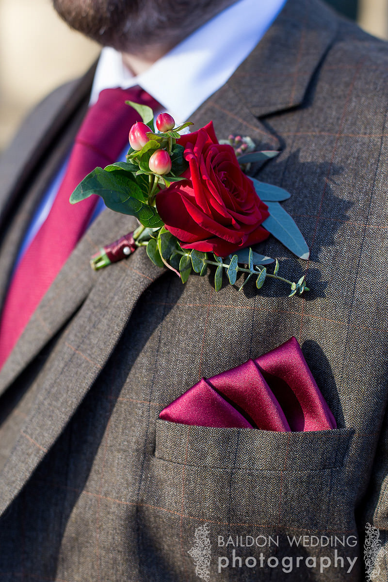 buttonhole and matching handkerchief
