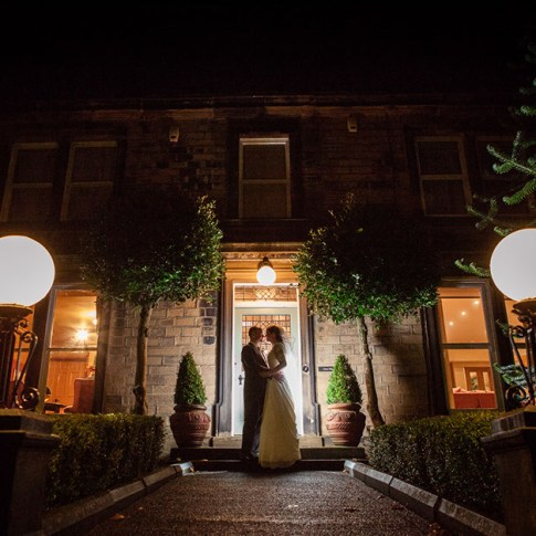 Crow Hill wedding Huddersfield night shot