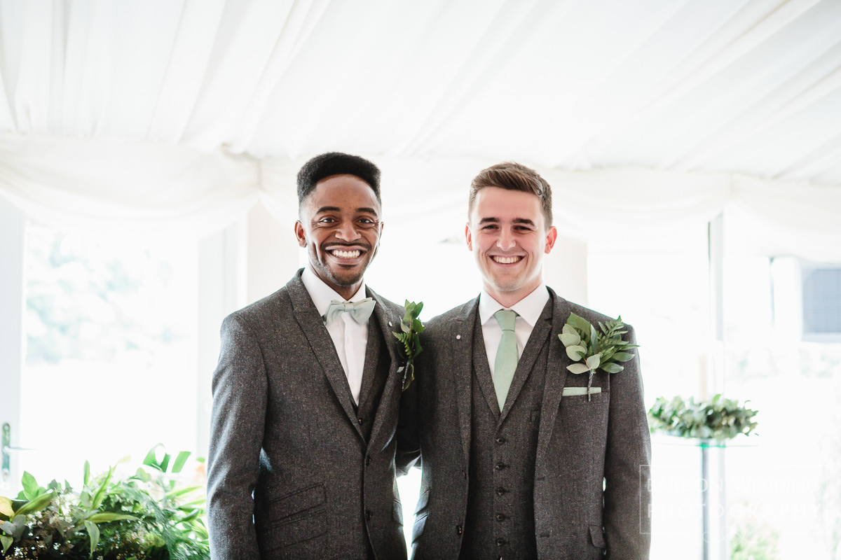 Groom and Best Man at the alter