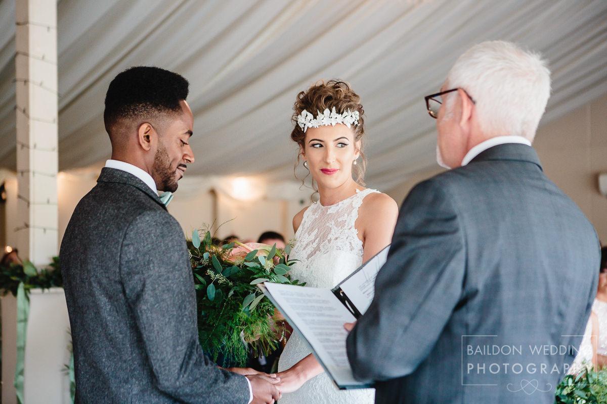 Wedding ceremony with registrar