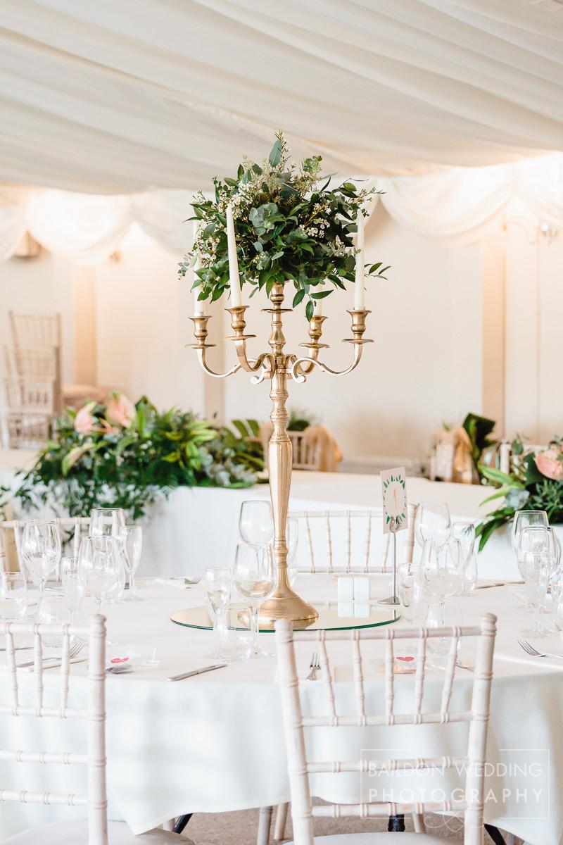 Wedding centrepieces Yorkshire wedding
