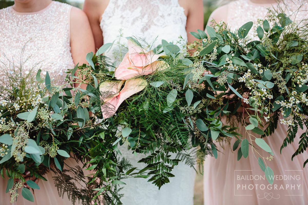 foliage bridal bouquet wedding style