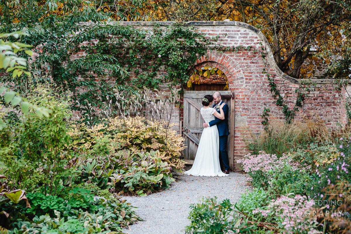 Middleton lodge wedding celebration walled garden couple shot