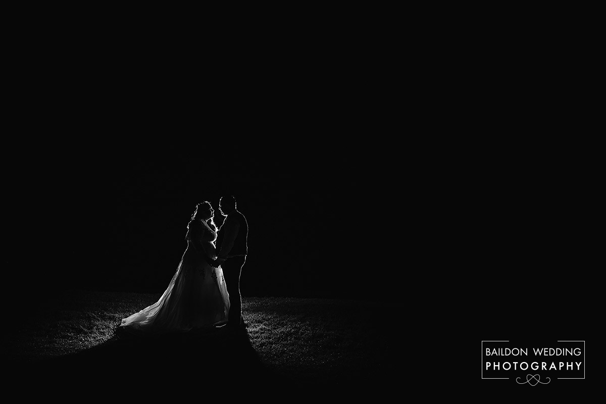Hollins Hall wedding March after dark
