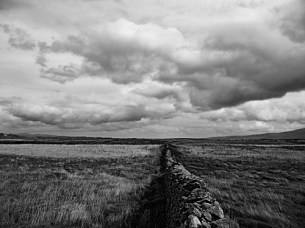 image of dry Stone Wall on Fenit Island County Kerry