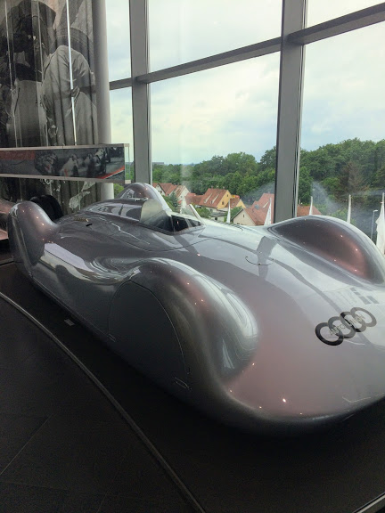Audi Museum Ingolstadt 1937 Auto Union V16 Type C Streamliner race car