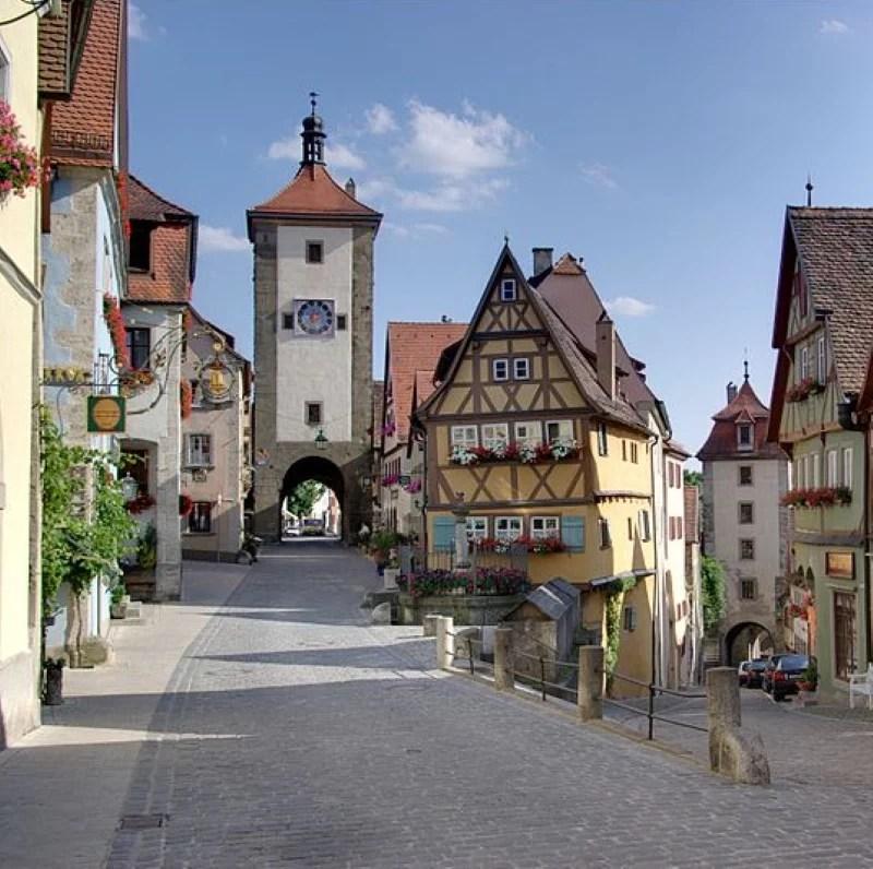 View of Plönlein in Rothenburg ob der Tauber