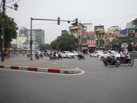 Merging into traffic
