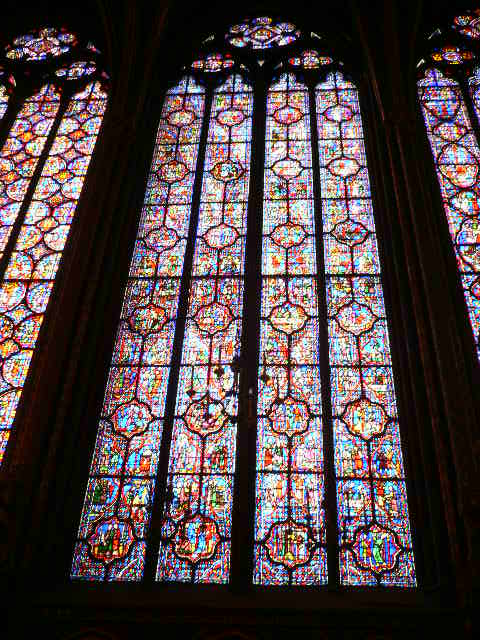 Sainte-Chapelle-Church-Paris-tall-stained-glass-window