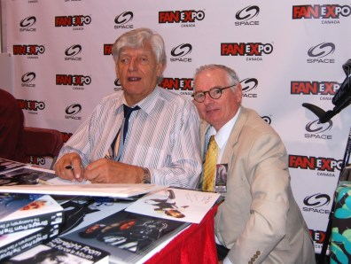 David Prowse (Darth Vader, Star Wars) meets with Robert.