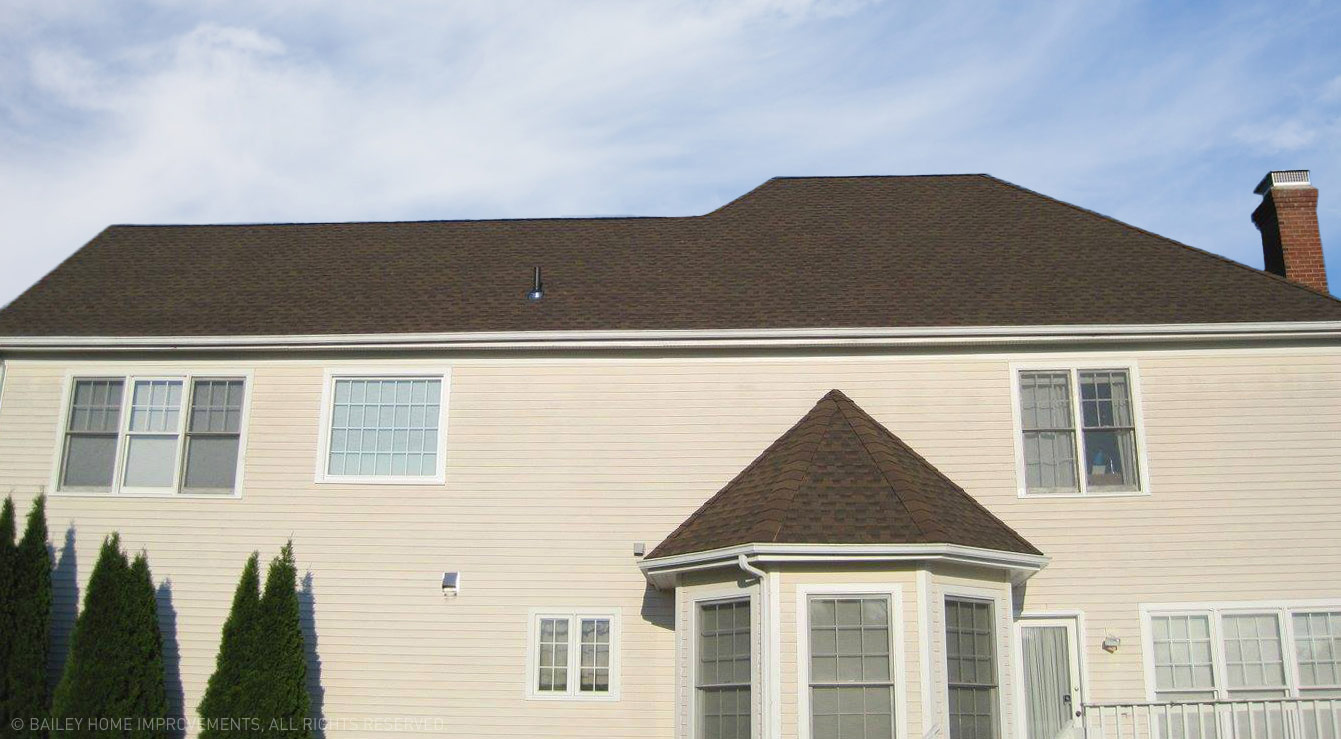 Roofers in Connecticut. Brown Tile Roof by Bailey Home Improvements.